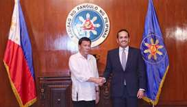 The Philippine President Rodrigo Duterte met on Wednesday with HE the Deputy Prime Minister and Mini
