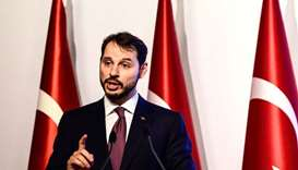Turkish Treasury and Finance Minister Berat Albayrak