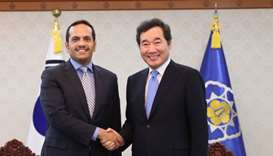 FM meets South Korean PM