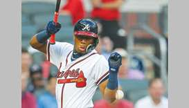 Acuna hurt in testy affair as Braves sweep Marlins