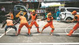 Workmen hold their own 'Asian Games'