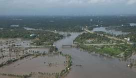 View of a flooded area is pictured in the north part of Kochi, in the Indian state of Kerala