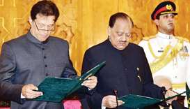 Imran Khan sworn in as Pakistan prime minister
