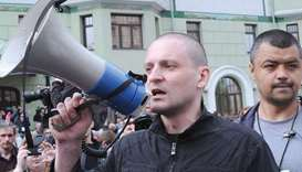 Udaltsov: hospitalised on doctors' orders.