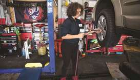 In one Philly garage, women using their own elbow grease