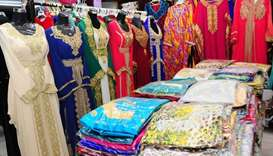 Various kinds of dresses are on offer