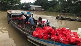 Ooredoo Myanmar provides relief for flood victims