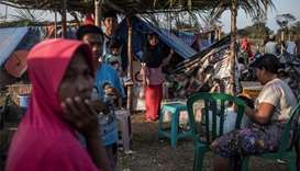 Rattled quake survivors mark Eid on Indonesian island