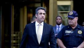 Michael Cohen, former lawyer to US President Donald Trump, exits the Federal Courthouse on August 21