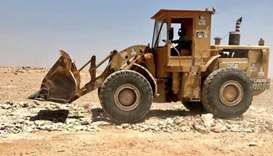 Ministry seizes excavator for illegally razing land