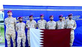 Silver medal for Qatar parachuting team