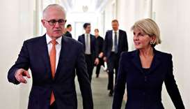 Australian foreign minister Bishop resigns from cabinet