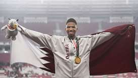 Qatar's champion Samba wins gold medal in 400m hurdles