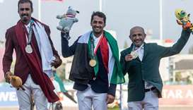 Qatar's Ali bin Khalid Al-Thani wins silver in Asian Games' Jumping Event