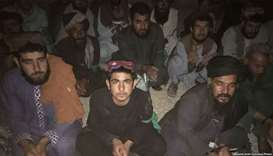 A group of prisoners freed in July by Taliban in Helmand.