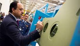 Defence minister opens F-15 production line for Qatar