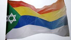 Druze flag decorated with a Star of David