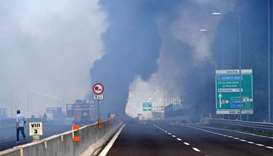Fireball near Bologna airport after road crash explosion