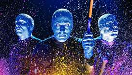 Expect the unexpected at Blue Man's first show in Qatar