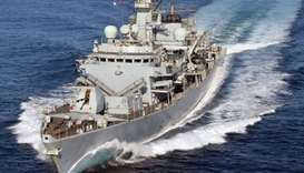 British warship sets sail for escort mission in Gulf