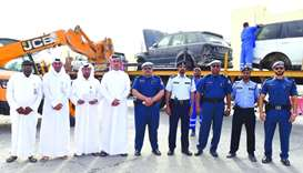 Officials at the launch of the campaign to remove abandoned vehicles in Industrial Area.