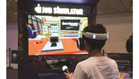 VR games and Inflatable slides, attract children to SEC on Eid