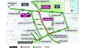 Al Khaleej Street's northbound lanes to remain partially closed for four months