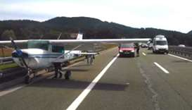 Airplane makes emergency landing on Croatian highway