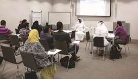 A session from one of the workshops at Qatar National Library.