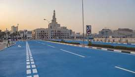 Cryogenic asphalt material has been piloted on a stretch of Abdullah bin Jassim Street near Souq Waq