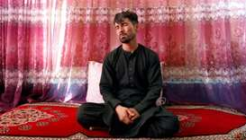 Mirwais Elmi 26, an Afghan groom who survived a suicide attack at his wedding reception on Saturday