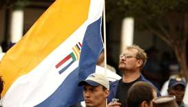 The apartheid-era South African national flag