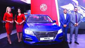 A snapshot from the launch of the new MG5 in Qatar.