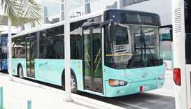 A Karwa bus. Image courtesy of Mowasalat website