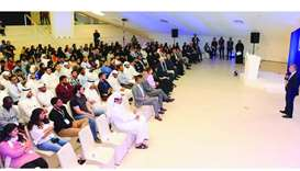 A view of the gathering at the HBKU orientation day