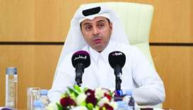 HE the Minister of Education and Higher Education Dr Mohamed bin Abdulwahed al-Hammadi addressing a