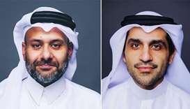 Yousuf Mohamed al-Jaida, chief executive, QFCA (L), Raed al-Emadi, chief commercial officer, QFCA