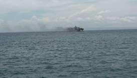 Two dead, over 100 rescued after Philippine ferry blaze