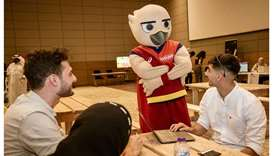 QF welcomes Falah the Falcon to Education City