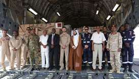 The first flight carrying relief materials for Sudan flood victims landed in Khartoum. Picture court