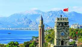 Turkey's Mediterranean province of Antalya is a popular tourist destination.