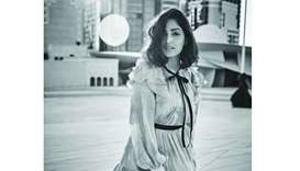 PICTURE PERFECT: Yami Gautam with National Museum of Qatar in the background.