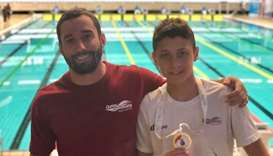Qatari Tamim Mohammed wins gold medal at Arab swimming championships in Morocco