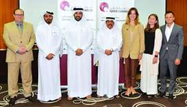 Qatar Chamber assistant director general for Government Relations Ali Busherbak al-Mansouri with Ras