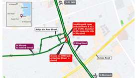 Temporary traffic shift on C-Ring Road