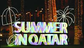 A life size signage of the Qatar National Tourism Council's (QNTC) 'Summer in Qatar' (SiQ) 2019 prog