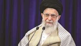 Iran's Supreme Leader Ayatollah Ali Khamenei is seen addressing the nation in a live television spee