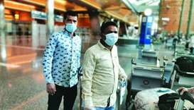 India-bound passengers at HIA Tuesday