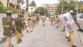 Police patrol Bengaluru streets after violent clashes