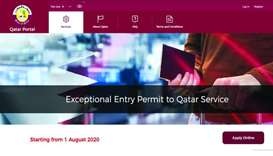 Qatar residents abroad can now apply for entry permit to return